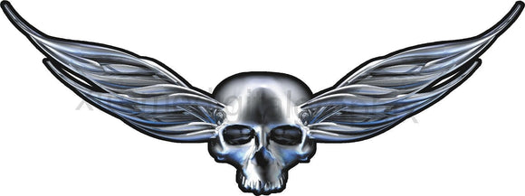 car hood winged skull graphic sticker