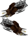 bald eagle checkers flag vinyl graphics kit for semi big rig