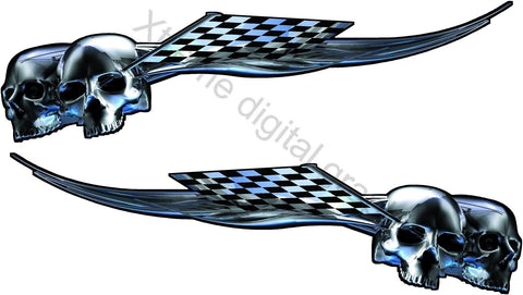 skulls racing auto decals