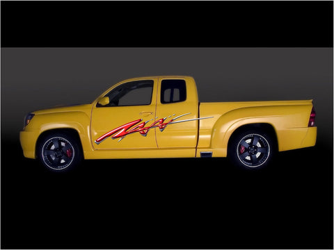 red decal yellow truck b731