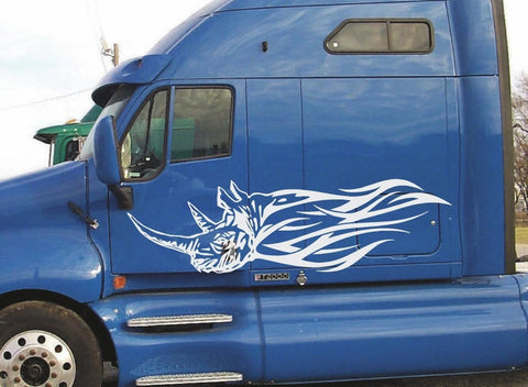 semi vinyl rhino flame graphics