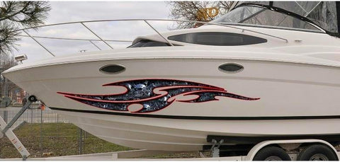 boat graphics tribal skulls
