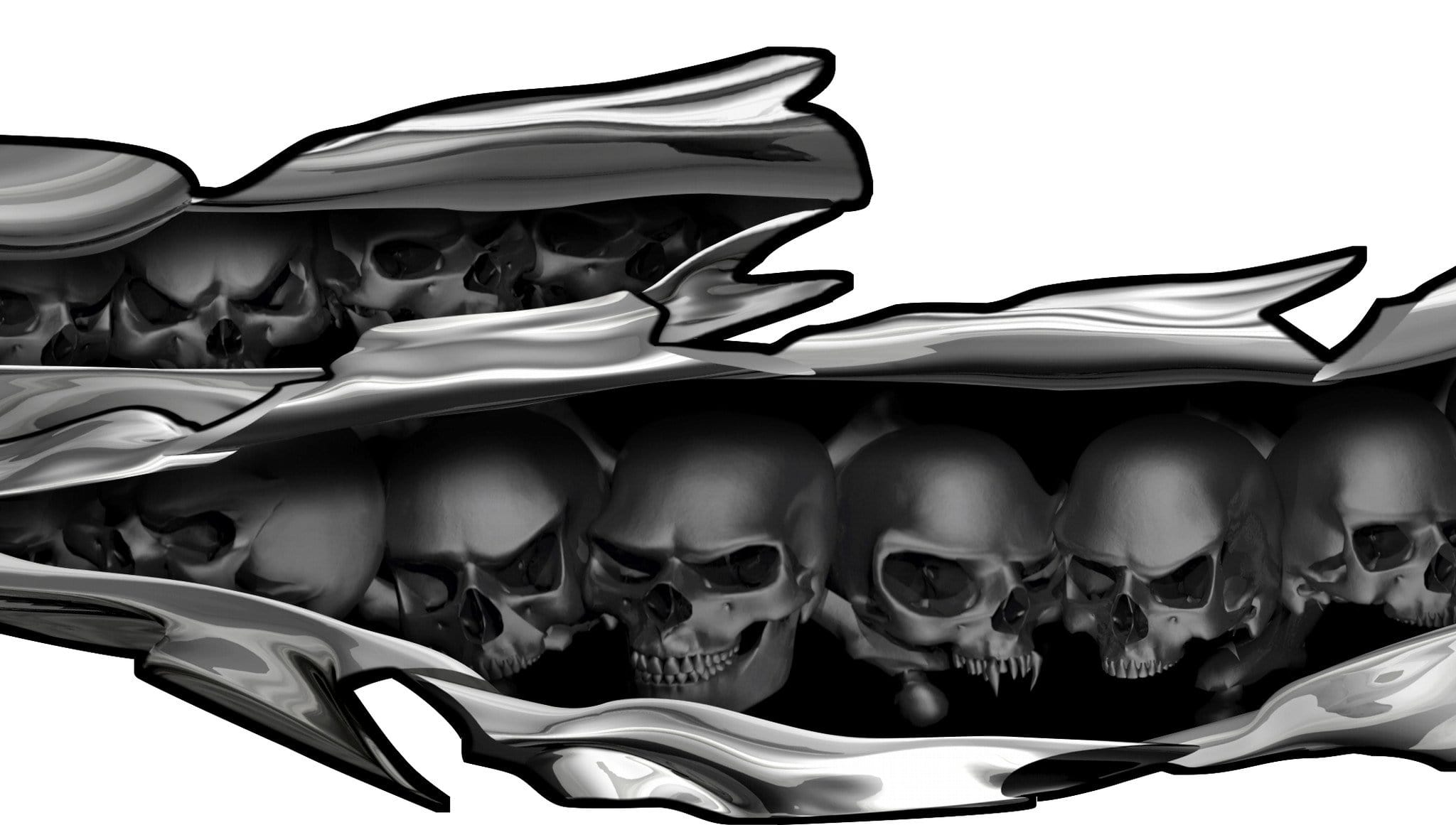 Skullsrippsdecaljpgv - Auto graphic stickers