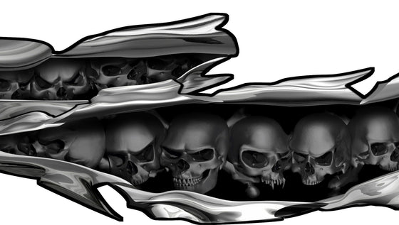 skull tears decal