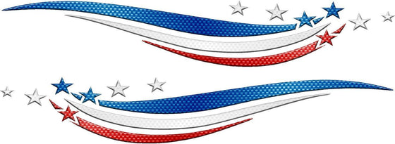 patriotic stars & stripes decals kit