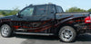 tribal carbon fiber vinyl graphics wrap on black pickup