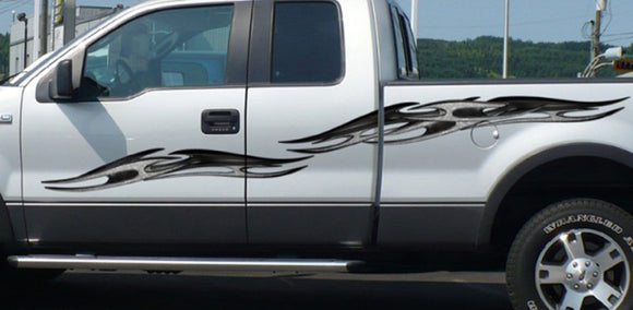 tribal chains decals on f150