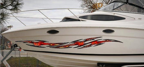 boat decals tribal