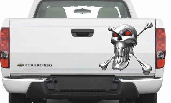 skull and crossbones decal for vehicle hood