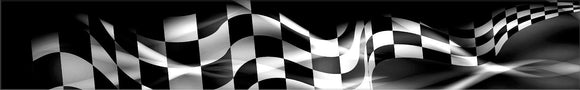Turbo Racing Checkered Flag Vinyl Boat Wrap Graphics