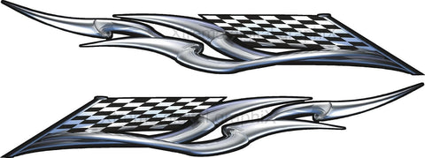 checker flag racing decals