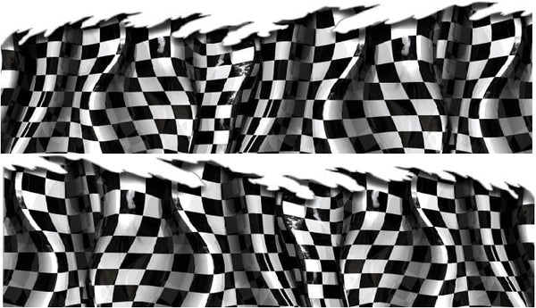 Checkered Flag Wave Vinyl Wrap Racing Kit Xtreme Digital