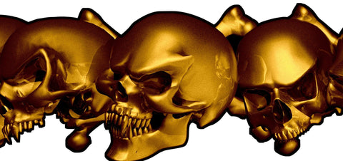 skulls auto side decal