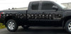 Gray skulls link vinyl graphics on black truck