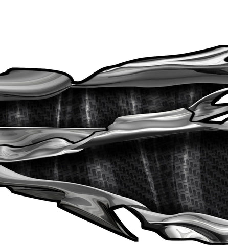 carbon fiber tears vehicle graphics