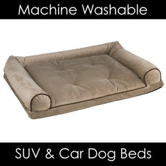 Bowser Memory Foam Dog Bed Fits in Back of Car or SUV Machine Washable