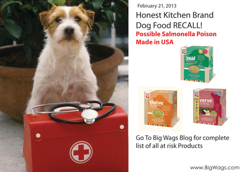 Dog Food Recalls Big Wags - The honest kitchen recall