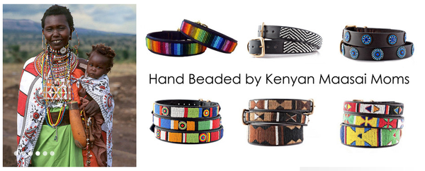 Kenyan Maasai Beaded Dog Collar
