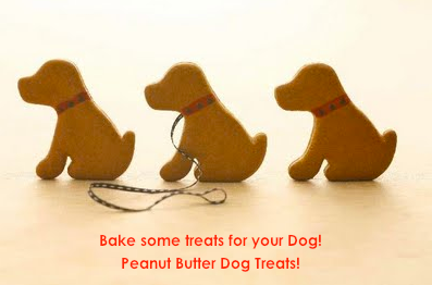 Bake your own Peanut Butter Dog Treats