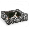 Bowsers Donut Deep Dish (Stripes and Florals) Dog Bed