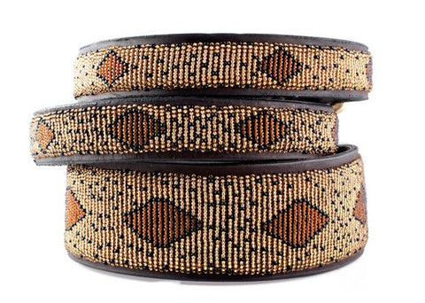 Cheetah: Kenyan Maasai Beaded Dog Collar