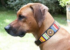 2 Inch Wide - Circle of Life: Kenyan Maasai Beaded Dog Collar