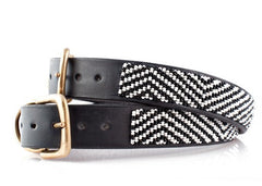 Zebra: Kenyan Maasai Beaded Dog Collar