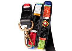 LEASH Circle of Life - Kenyan Maasai Beaded Dog Leash