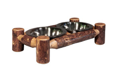Log Cabin Dog Feeder Small