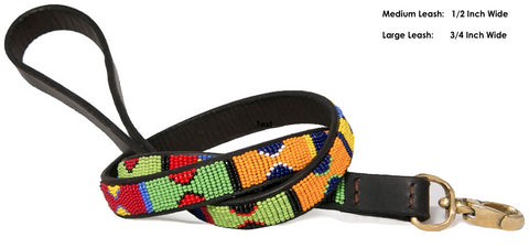 LEASH Primary: Kenyan Maasai Beaded Dog Leash