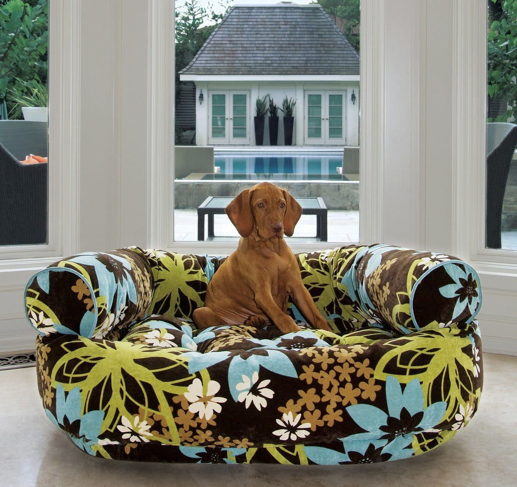 orthopedic senior dog beds  big wags - bowsers double donut deluxe dog bed couch