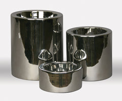 HI-Rise Raised Dog Bowls: Shiny Nickel