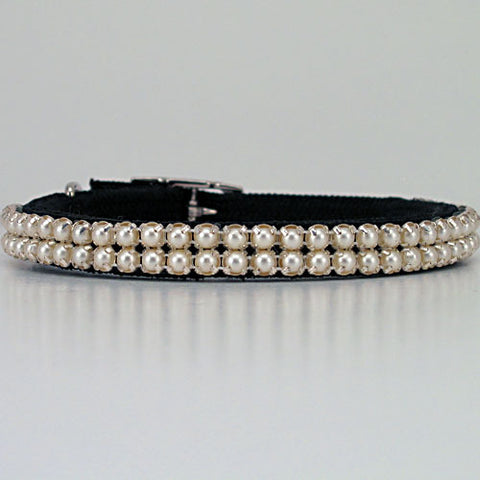 Pearl 2:  Pearl Beaded Dog Collar