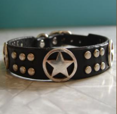 Saint Francis Leather Dog Collar