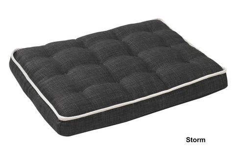 Storm Grey Deluxe Dog Bed Crate Mattress Bowsers