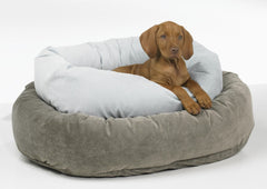 Bowsers Donut Deep Dish (Solids): Microvelvet Donut Dog Beds