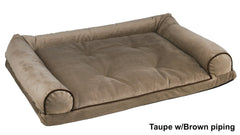 Memory Foam Orthopedic Bowsers SUV Dog Bolster Bed: Taupe