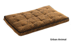 Brown Deluxe Dog Bed Crate Mattress