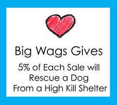 5% of Your Order Will Rescue a Dog