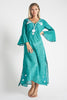 Fez Long Maxi Tunic Summer Dress Petrol