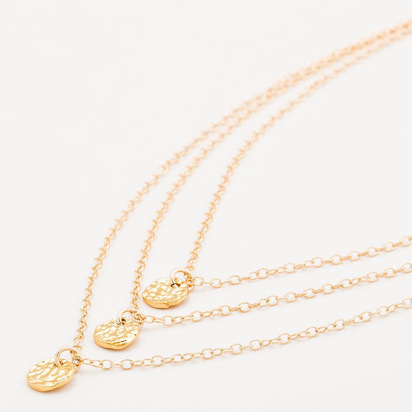 3 Disc Necklace - Gold