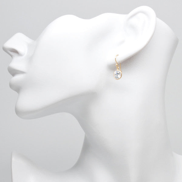 8mm Small Crystal Drop - Gold
