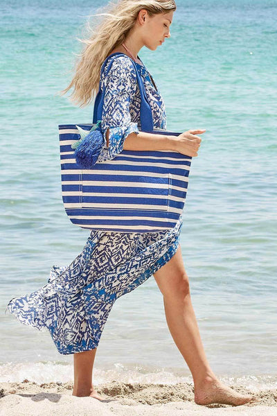 Cabo Ikat Maxi Tunic Dress