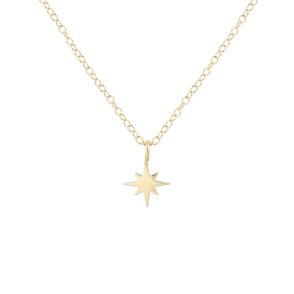 Starburst Charm Necklace - Gold