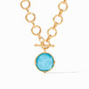 Honeybee Statement Necklace - Iridescent Pacific Blue