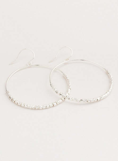 Laguna Drop Hoops - Silver