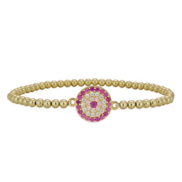 Evil Eye Multicolor Disc Bracelet