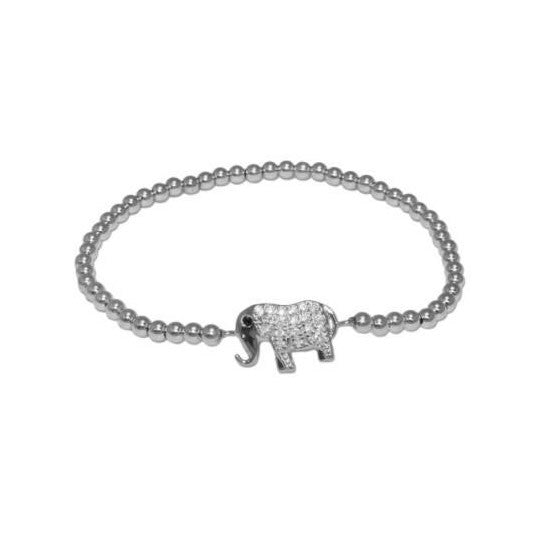 Elephant Beaded Stretch Bracelet