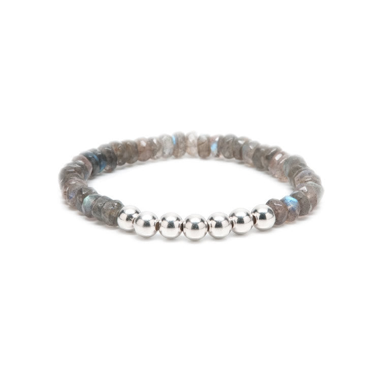 Beaded Labradorite Stretch Bracelet
