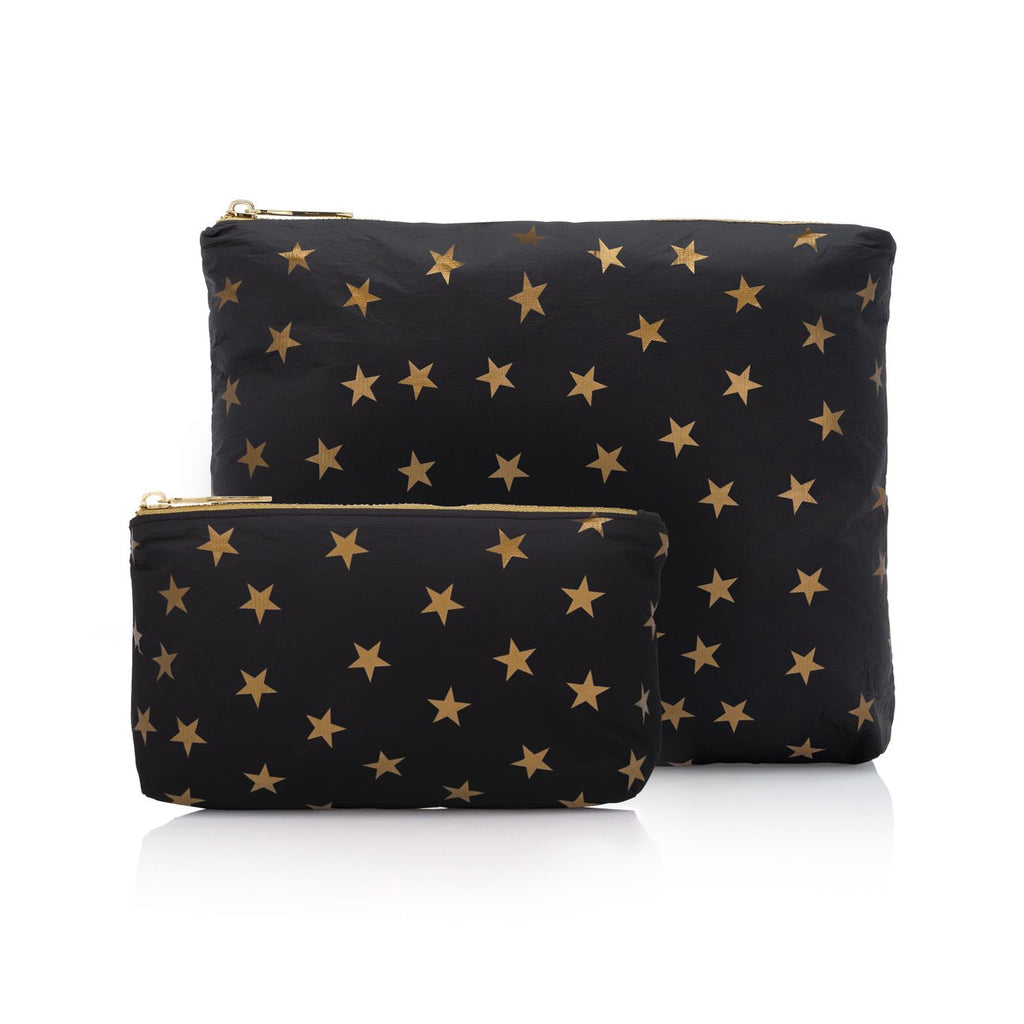 Black with Myriad Gold Stars